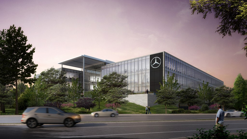 Mercedes benz usa headquarters projects gensler for Mercedes benz corporate office