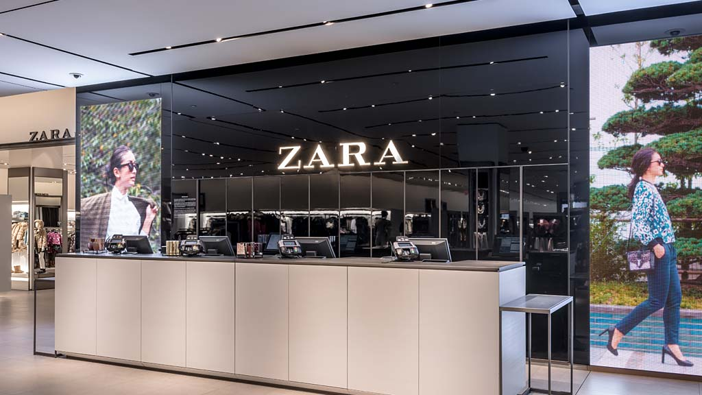 zara store design Thethe new shop's minimalist design lays out the clothes  the effect is like having various small boutiques within the same store zara has also used lighting to.