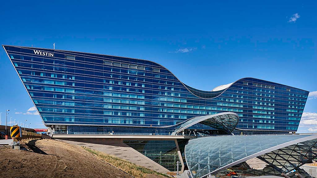 Nearing Completion The New Hotel And Transit Center At Denver International Airport Image Courtesy
