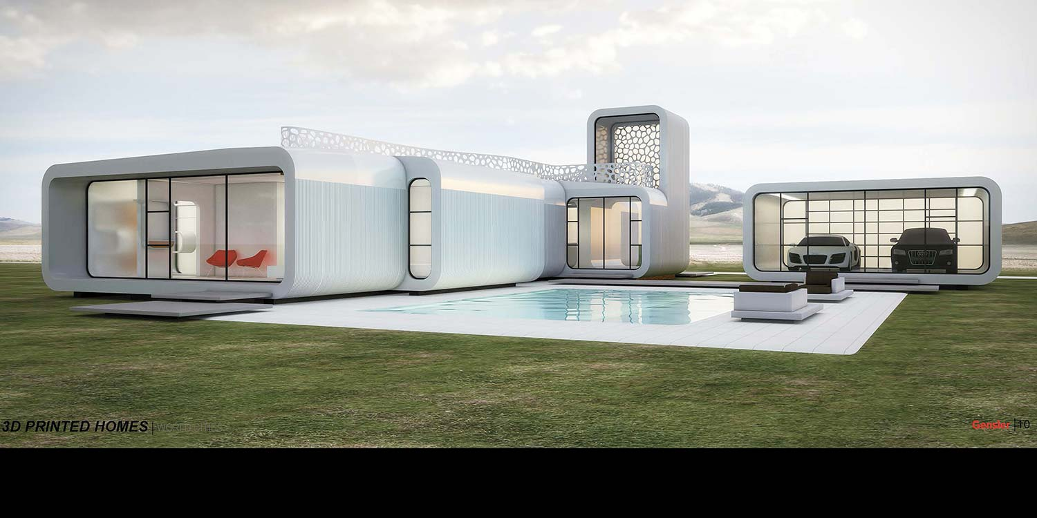 Residential. 3D Printed House Prototype