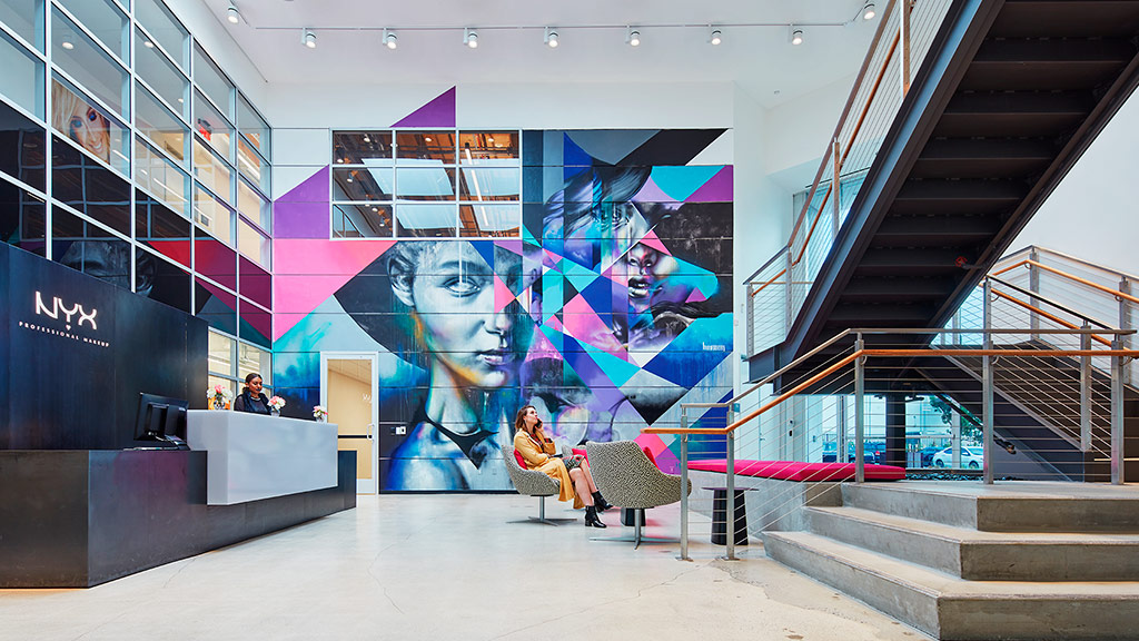 nyx cosmetics headquarters projects gensler