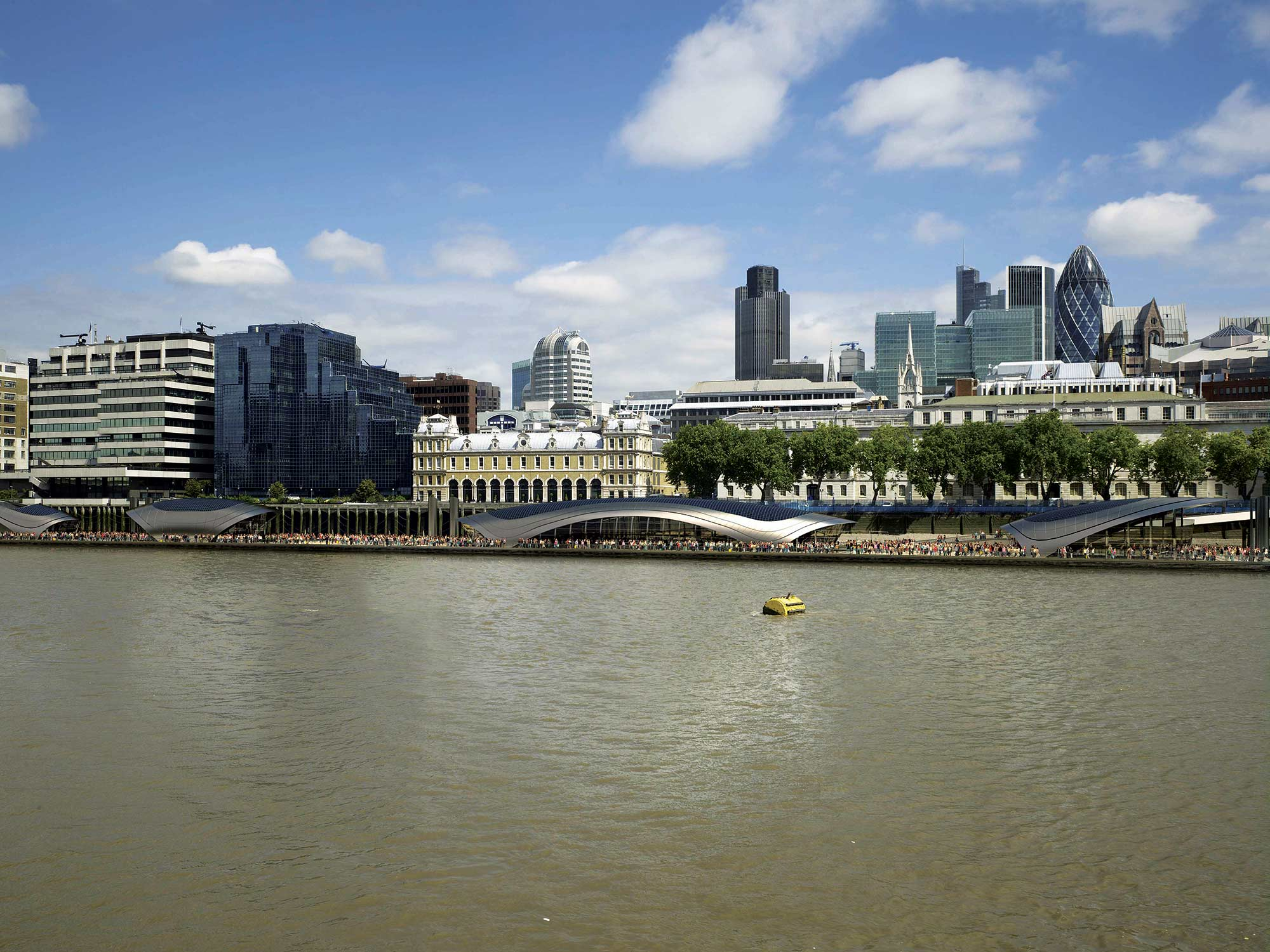 The Vision For Park Is To Establish Public Space Along North Bank Of River Thames Providing Worlds First Floating Tidal