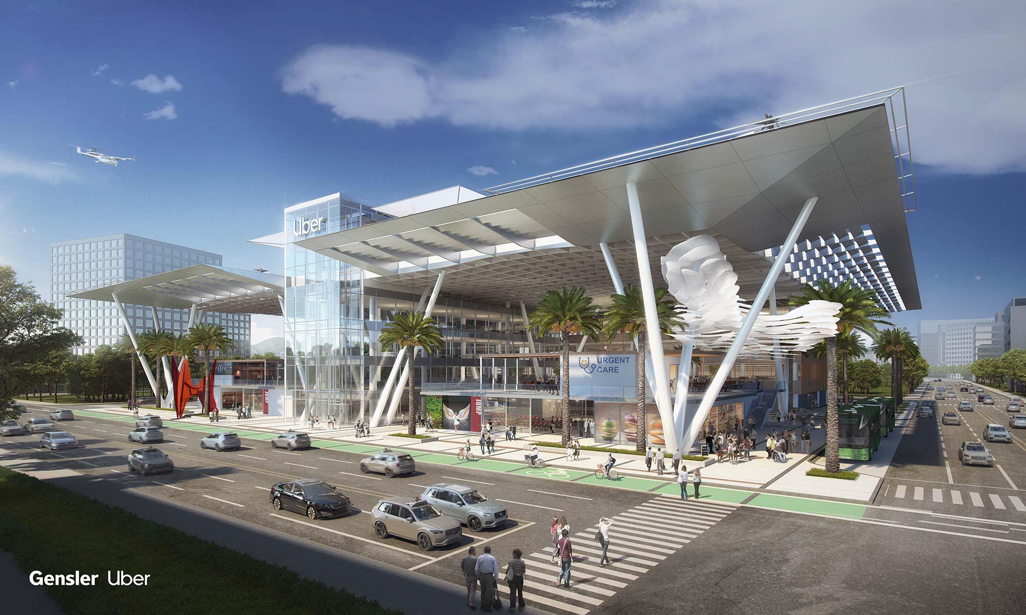 CitySpace: Gensler's Uber Elevate Skyport Concept Reimagines the
