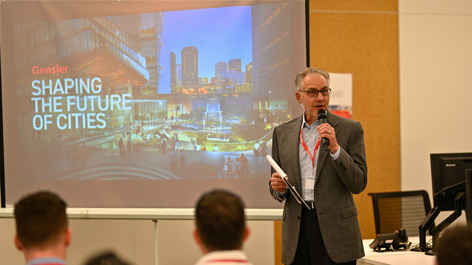 Gensler's David Calkins delivered the keynote speech