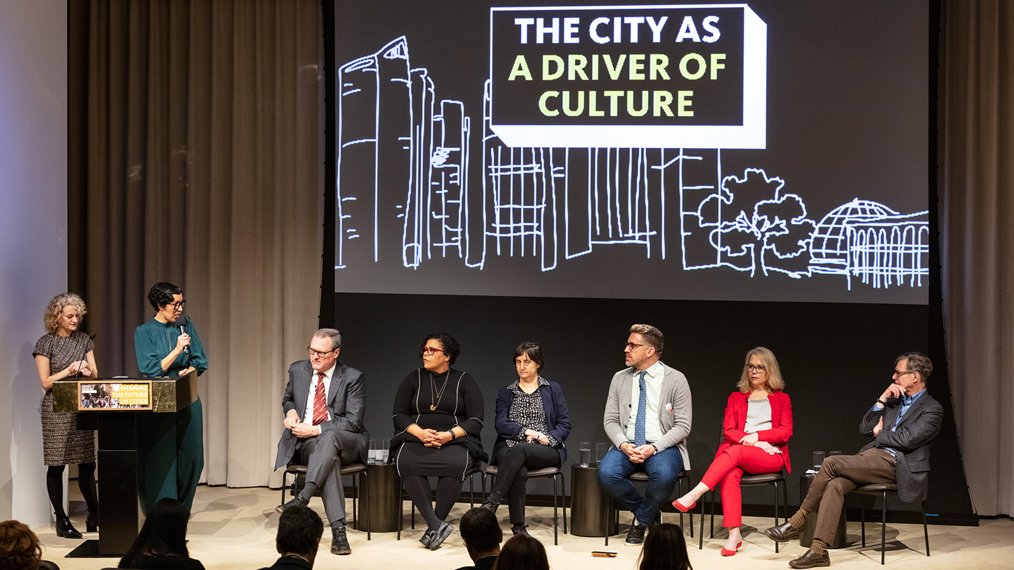 Panelists at Gensler New York's Design Forecast Local event