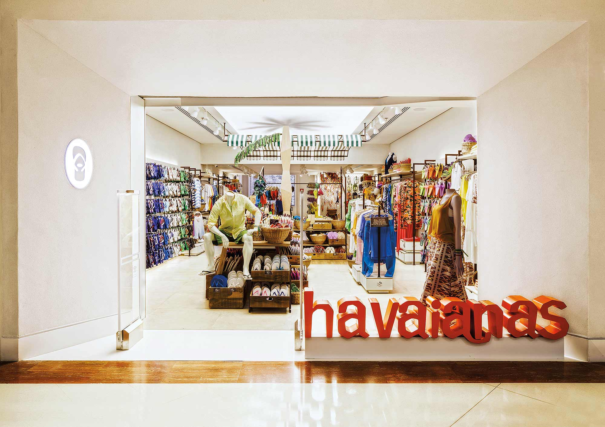 f19844a63a060 The new Havaianas store in São Paulo uses an open-air market theme to add  clothing to the mix.