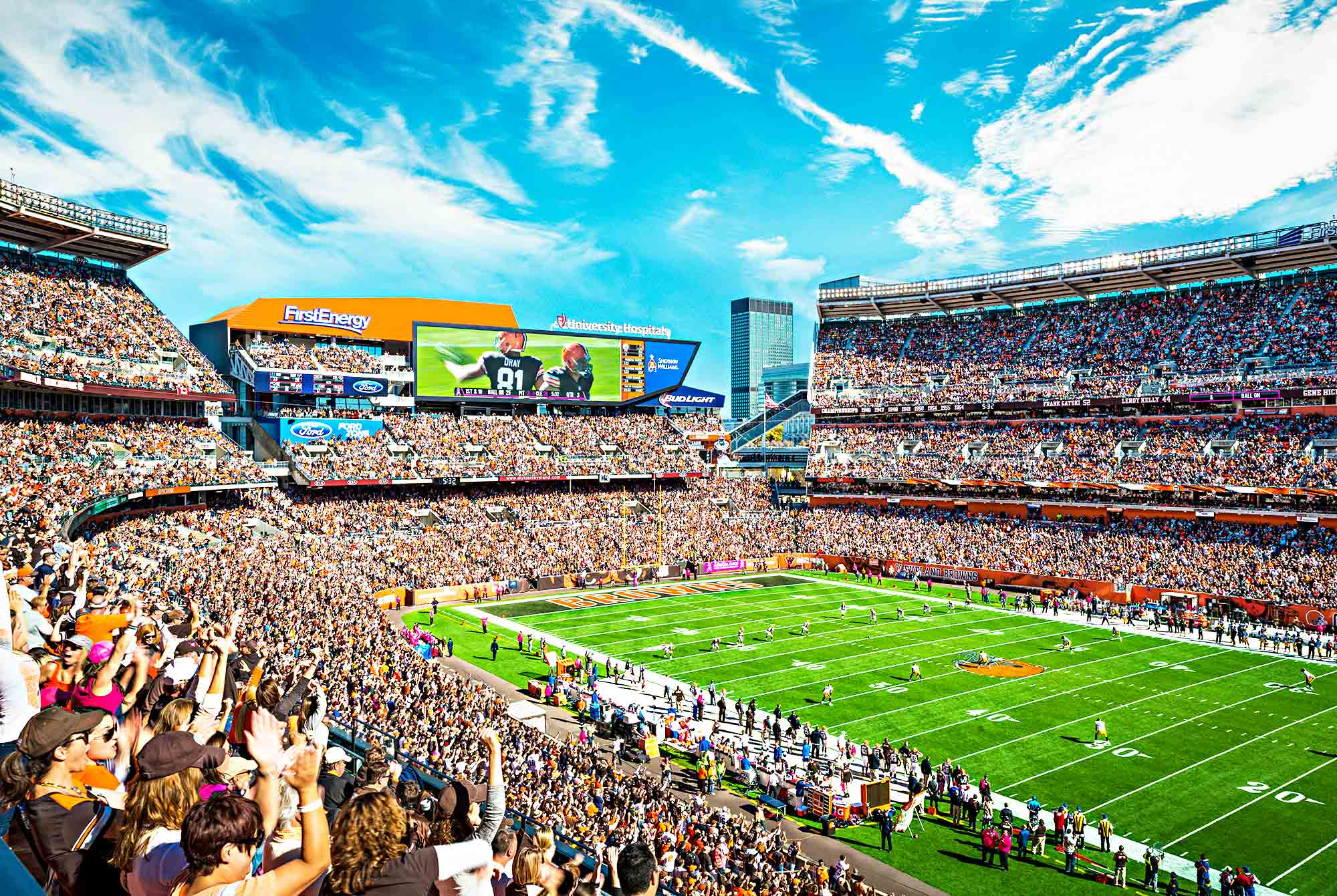 Sponsored Fan Destinations Strategic Graphics Giant HD Video Boards And A High Performance New Sound System Redefine The Experience At FirstEnergy